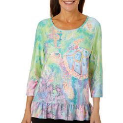 Leoma Lovegrove Womens The Chaperone Ruffle Hem Top