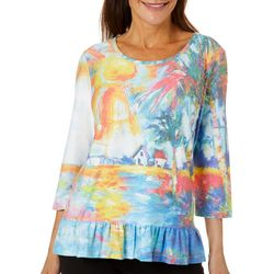Leoma Lovegrove Womens Welcome Home Ruffle Hem Top