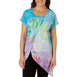 Leoma Lovegrove Womens Fan Fare Knot Front Tunic Top