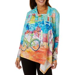 Leoma Lovegrove Womens My Happy Place Draped Cardigan
