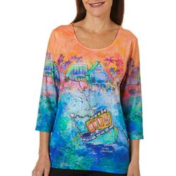Leoma Lovegrove Womens Holy Mackerals Scoop Neck Top
