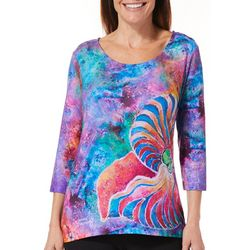 Leoma Lovegrove Womens Calypso Scoop Neck Top
