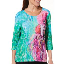 Leoma Lovegrove Womens Smooth Operator Scoop Neck Top