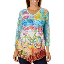 Leoma Lovegrove Womens My Happy Place Lace Top