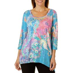 Leoma Lovegrove Womens Poseidon Asymmetrical Top