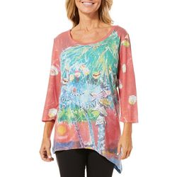 Leoma Lovegrove Womens Christmas Island Asymmetrical Top