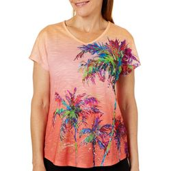 Leoma Lovegrove Womens Parade Of Palms Ombre Top