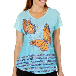 Leoma Lovegrove Womens Butterfly Kiss Ombre Top