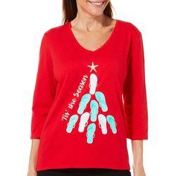 SunBay Petite Flip Flop Christmas Tree Top
