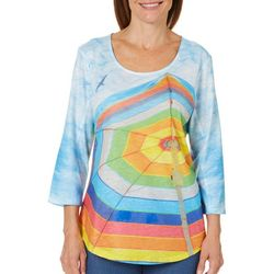 SunBay Petite Printed Beach Umbrella Top