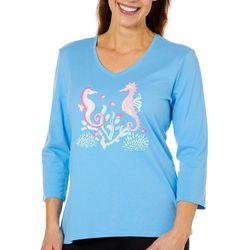 SunBay Petite Seahorse Friends Top
