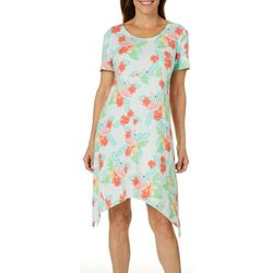 SunBay Petite Flamingo Floral Print Dress
