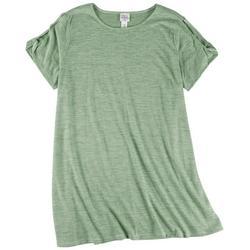 Plus Cut Out Short Sleeve T-Shirt Dress