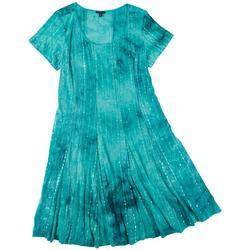 Womens Embellished Tie Dye Dress
