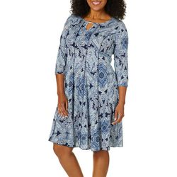 Sami & Jo Plus Boho Paisley Panel Dress