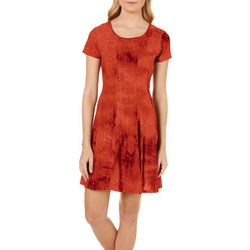 Sami & Jo Plus Embellished Tie Dye Pleat Dress