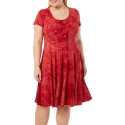 Sami & Jo Plus Tie Dye Floral Panel Dress