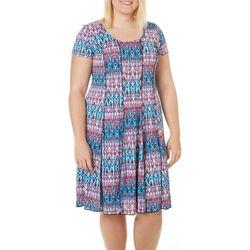 Sami & Jo Plus Ikat Panel T-Shirt Dress