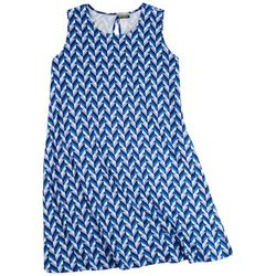 Allison Brittney Plus Blue Labirinto Sun Dress