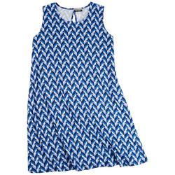Plus Blue Labirinto Sun Dress