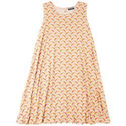 Plus Geometric Sun Dress
