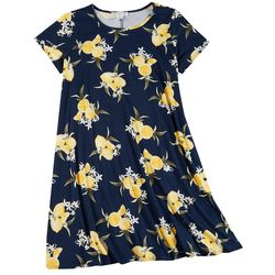 Jamie & Layla Plus Short Sleeve Lemon Yummy Swing Dress