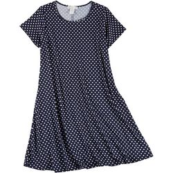Jamie & Layla Plus Short Sleeve Polka Dot Dress