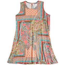 Plus Paisley Mix Sun Dress
