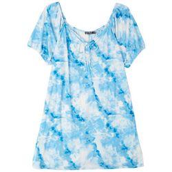 Cure Apparel Plus Tie Bust Dress