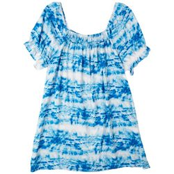 Cure Apparel Plus Smocked  Dress