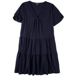 Plus  2 Tiered Dress