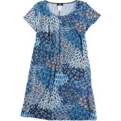 MSK Plus  Printed Dress