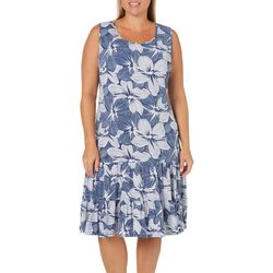 MSK Plus Ruffled Blooming Floral Sundress