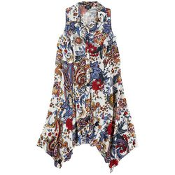 MSK Plus Floral Button Down Dress