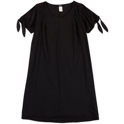 MSK Plus Solid Tie Sleeve T-Shirt Dress