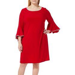 MSK Plus Embellished Bell Sleeve Dress