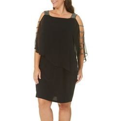 MSK Plus Glitzy Caged Poncho Dress
