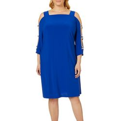MSK Plus Glitzy Caged Shift Dress