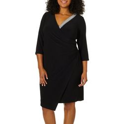 MSK Plus Glitzy Wrap Dress