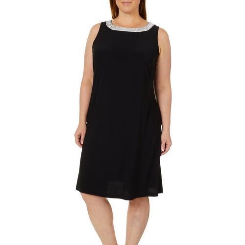 Msk Plus Embellished Sleeveless Shift Dress Bealls Florida