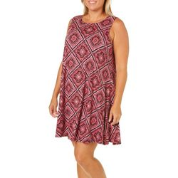 Allison Brittney Plus Tile Print Sundress