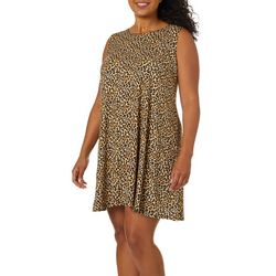 Allison Brittney Plus Leopard Print Sundress