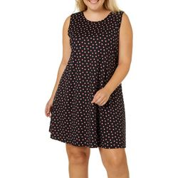 Allison Brittney Plus Geometric Dot Print Sundress