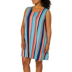 Allison Brittney Plus Vertical Stripe Sundress