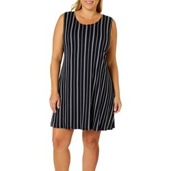 Allison Brittney Plus Pin Striped Sundress