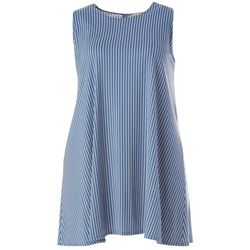 Allison Brittney Plus Striped Yummy Swing Dress