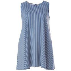 Plus Striped Yummy Swing Dress