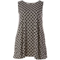 Allison Brittney Plus Geometric Print Yummy Swing Dress