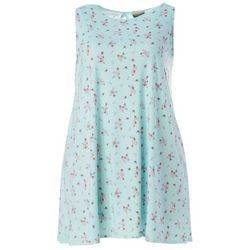 Plus Floral Bouquet Yummy Swing Dress