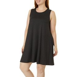 Allison Brittney Plus Polka Dot Yummy Swing Dress